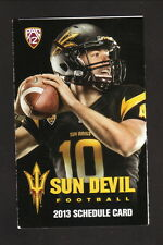 Arizona State Sun Devils--2013 Football Pocket Schedule