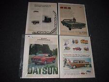 Vintage Car Ads 1959 Rambler / 1200 Datsun Sports Coupe / 1967 Ford LTD / VW Ad