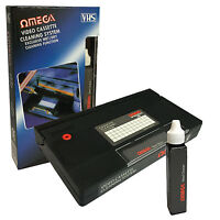 VCR VIDEO HEAD CLEANER VHS CASSETTE RECORDER TAPE CLEANER SYSTEM & FLUID WET/DRY