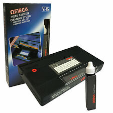 VCR VIDEO HEAD CLEANER VHS Registratore a Cassette Tape Pulitore sistema & Fluido Wet/Dry