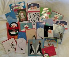 Lot of 20 Papyrus Paperchase Paper Source Holiday Christmas Cards!!