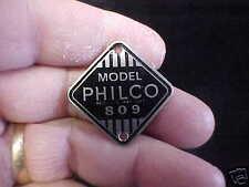 Philco Radio Ácido Grabado Datos Matrícula