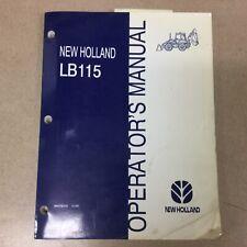 New Holland Lb 115 Loader Backhoe Operator Manual Operation Maintenance 86576312
