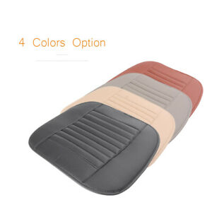 Universal PU Leather Bamboo Charcoal Seat Cover Breathable Pad Chair Custion New
