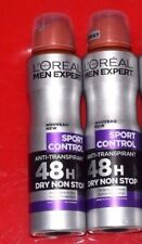2 x LOreal Men Expert Anti-Transpirant  Deodorant Spray Sport Control  150Ml