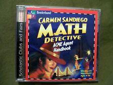 Broderbund Carmen Sandiego Math Detective Acme Agent Handbook Cd-Rom Ages 8-14