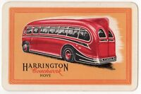 Playing Cards Single Card Old HARRINGTON COACHWORK Hove Bus COACH Advertising 1