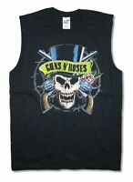 Guns N Roses Top Hat Skull Black Muscle Tank Top Shirt New Official