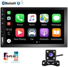 """7"""" Double 2 Din Car Stereo Radio Player Bluetooth Touch Screen Fm D-Play +Camera"""
