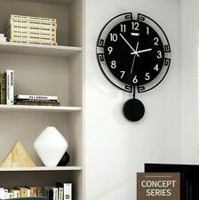 Modern Black Large Wall Clock Design Mounted Hanging Watch Room Home Decor New!