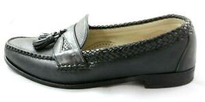 Allen Edmonds Maxfield Men's Dress Shoes Black Leather Tassel Loafers Size 12 D