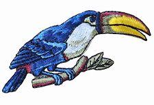 """#4308 2-3/4"""" Toucan Bird,Tropical Bird Embroidery Iron On Appliqué Patch"""