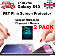 Full Curved Fingerprint Unlock Compatible PET Protective Film for Samsung S10