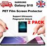 Full Curved Fingerprint Unlock Compatible PET Protective Film for Samsung S10