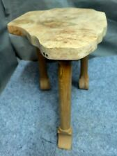 Hand Made Solid Maple 3 Leg Stand 17 inches tall 17 by 12.75 across the top