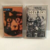 Lot of 2 REM Document + Monster Cassette Tapes In VG Tested Working Condition