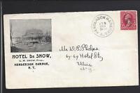 HENDERSON HARBOR, NEW YORK, 1900, ILLUST AD COVER, HOTEL DE SNOW,  G.M.SNOW PROP