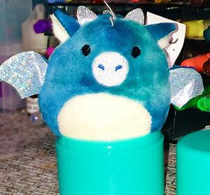 """Squishmallows Micromallows Mystery Capsule Mini 2.5"""" DOMINIC Blue Green Dragon"""
