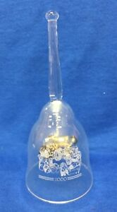 2000 New Holland Crystal Christmas Bell, with Tractor Clapper