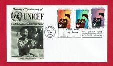 UN FDC 97/98/99, UNICEF, FLEETWOOD CACHET
