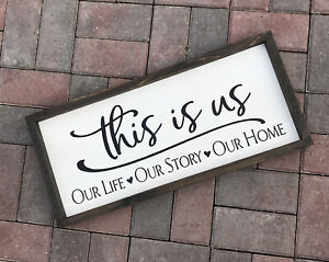 Farmhouse sign, This is Us, 25 x 11 inches