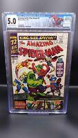 Amazing Spider-Man Annual #3 CGC 5.0 Avengers Hulk. Daredevil cameo 1966 Marvel