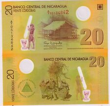 Nicaragua - 2 0 cordobas Unc polymer currency note