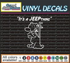 "4"" It's a Jeep Thing Popeye Dog Funny Cartoon Truck window vinyl sticker decal"