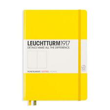 Leuchtturm1917MediumA5 Hardcover Lemon Yellow Dotted Notebook Dot Grid Journal