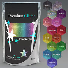 Pure Premium HOLOGRAPHIC Large 100g Ultra Fine Glitter Craft Wine Glass Nails