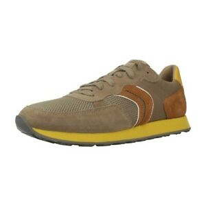 Geox Respira VINCIT B Herren Schuhe Sneaker Halbschuhe U845VC Sand / Skin