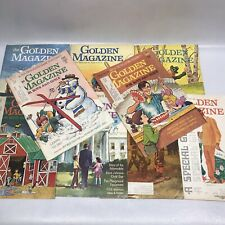 Lot of 9 Issues~ Vintage THE GOLDEN MAGAZINE For Boys And Girls