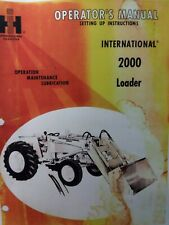 International Ih 2000 Front Loader Tractor Owner Amp Assembly Manual Agricultural