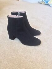 Whistles Black Suede Logan Boots Size 39/6