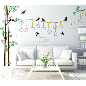 Family Tree Photo Frame Wall Decal Sticker Mural Living Room Home Decor