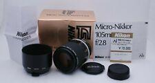 [Near Mint+ in Box] NIKON AI-S Micro-NIKKOR 105mm F/2.8 w/ Lens Hood From Japan