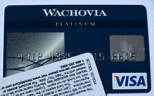 Expired Wachovia Bank Platinum Visa Credit Card USA Blue