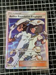 Pokémon TCG Hidden fates Aether Foundation Employee