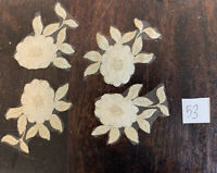 Cream and Antique Gold Floral Embroidered Tulle  Appliqué Lace Pieces Sew On 53