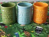 Disney Polynesian Trader Sam's Grog Grotto Rum Flight Set of 3 Shot Glasses Tiki