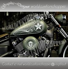 KIT ADESIVI STICKERS DA SERBATOIO CUSTOM YAMAHA DRAG STAR DECAL WORLDCUSTOM