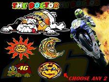 Valentino Rossi decals Guido Sun Moon Turtle The Doctor stickers 46 GP11 MotoGP