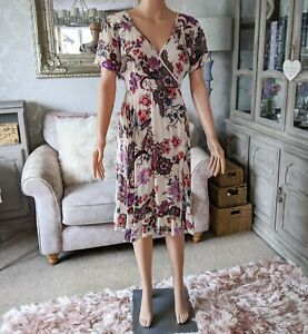 Patrons of Peace Ladies S 10 Wrap Dress Floral Boho Gypsy Peasant FANTASTIC COND