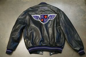 Rare Authentic Team Holyfield Ironhead Leather Jacket Trainer Owned - Medium