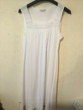 M&S White Jersey Stretchy Nightie Size 16