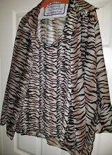 women's  two-piece animal print top