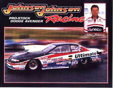 1999 Allen Johnson Amoco Dodge Avenger Pro Stock NHRA postcard