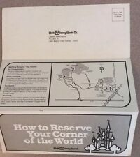 VINTAGE ORIGINAL 1981 WALT DISNEY WORLD CO MAGIC KINGDOM UNUSED HOTEL RESERVATIO