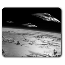 Rectangle Mouse Mat BW - Cool UFO Alien Spaceship Space Fun  #41062