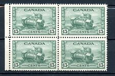 Canada MNH #258 Ram Tank Block of 4 1942 K325